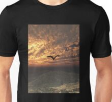 Dragon Flying at Sunset Unisex T-Shirt