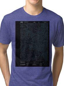 USGS Topo Map Oregon Groundhog Mountain 20110810 TM Inverted Tri-blend T-Shirt