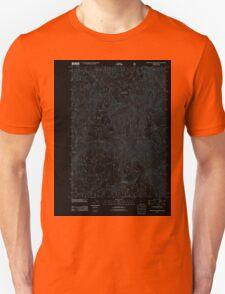 USGS Topo Map Oregon Groundhog Mountain 20110810 TM Inverted T-Shirt