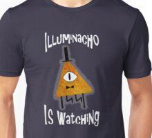 Bill Cipher Dorito Illuminacho Is Watching - White Unisex T-Shirt