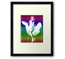 Marilyn Monroe Iconic White Dress Blowing Image Multicolour  Framed Print