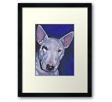 Bull Terrier Fine Art Painting Framed Print