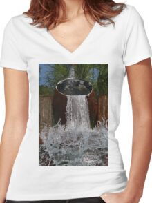 Barrels of Water! Women's Fitted V-Neck T-Shirt