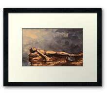 At one with the world Framed Print