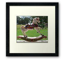 Little Rocking Horse Framed Print