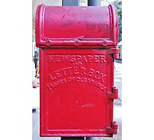 Red Letter Box Photographic Print