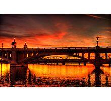 Red Winter Sun  Photographic Print