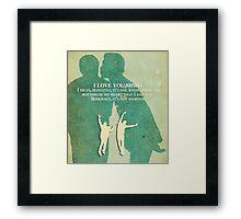 I love you Misha Framed Print