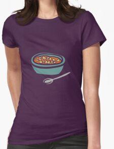 Alphabet Soup Womens Fitted T-Shirt