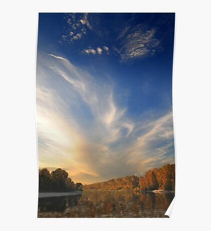 Sky over River Poster