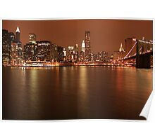 NYC Night view Poster