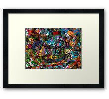 Every thought can change the day when let out in joyful play Framed Print
