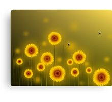 * sunflower field * Canvas Print