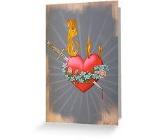 Flaming Heart Greeting Card