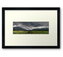 A Path well Travelled - Capertee Valley Panorama (105 Exposures Panorama) The HDR Experience Framed Print