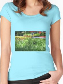 Tulips and Crown Imperials - Keukenhof Gardens Women's Fitted Scoop T-Shirt