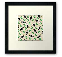 Tropical Jungle Bird Summer Pattern Framed Print