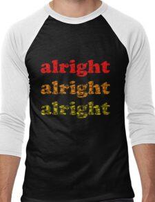 Alright Alright Alright - Matthew McConaughey : White Men's Baseball ¾ T-Shirt