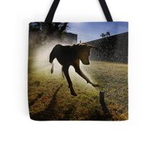 Dogs with game face on .20 Tote Bag