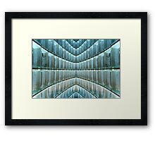 Playing With (Glass) Blocks Framed Print