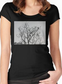 Caw Women's Fitted Scoop T-Shirt