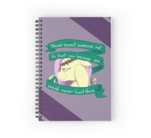 Hurt Purple Spiral Notebook