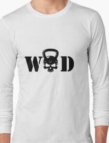 WOD Kettlebell Skull Black Long Sleeve T-Shirt