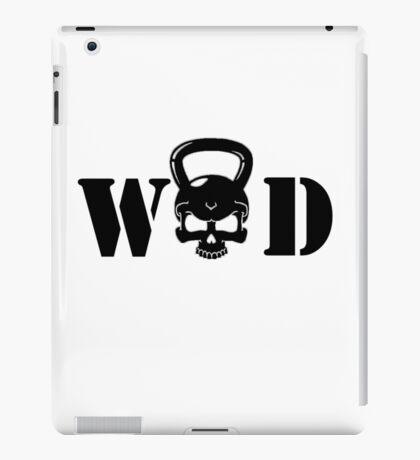 WOD Kettlebell Skull Black iPad Case/Skin