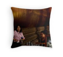 Donations Throw Pillow