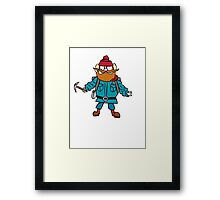 Rudolph the Red-Nosed Reindeer Yukon Cornelius Framed Print