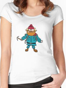 Rudolph the Red-Nosed Reindeer Yukon Cornelius Women's Fitted Scoop T-Shirt