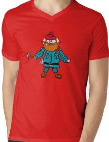 Rudolph the Red-Nosed Reindeer Yukon Cornelius Mens V-Neck T-Shirt