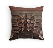 Agra Fort Interior design Throw Pillow