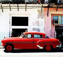 Red Car- Havana by Adam Booth