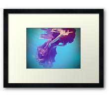 Be water Framed Print