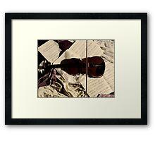 The resting Violin. Framed Print