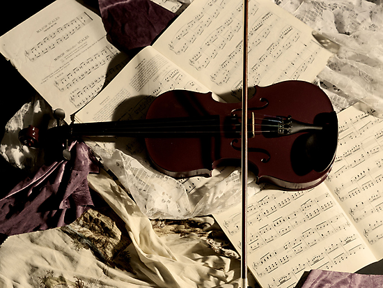 The resting Violin. by Ruth Jones