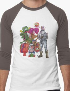 Classic Retro Atari Characters T-Shirt Men's Baseball ¾ T-Shirt