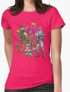 Classic Retro Atari Characters T-Shirt Womens Fitted T-Shirt