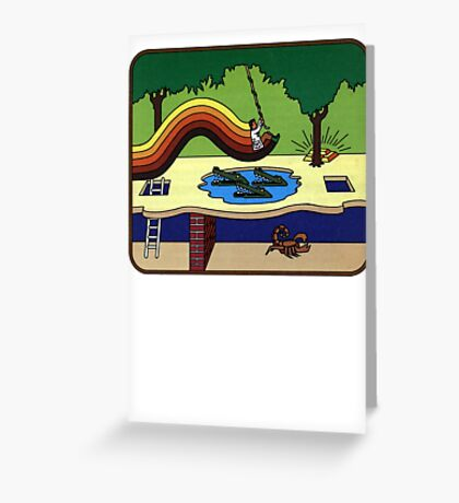 Atari Activision Pitfall Harry Greeting Card