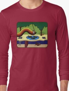 Atari Activision Pitfall Harry Long Sleeve T-Shirt