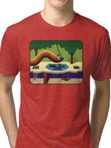 Atari Activision Pitfall Harry Tri-blend T-Shirt