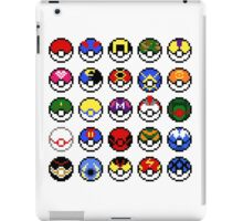 Pokeballs - pixel art iPad Case/Skin