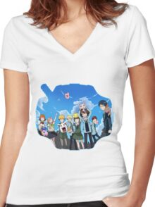 Digimon Tri Women's Fitted V-Neck T-Shirt