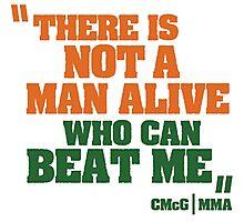 Conor McGregor - Quotes [Man Alive] Photographic Print
