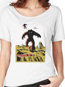 Space Invaders Moon Crater Monster Women's Relaxed Fit T-Shirt