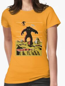 Space Invaders Moon Crater Monster Womens T-Shirt