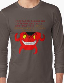 I defeated Diablo on Inferno Long Sleeve T-Shirt
