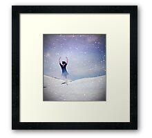 Ballerina in a crystal ball Framed Print