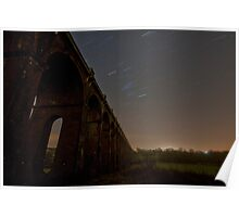Balcombe Viaduct at Night with Startrails Poster